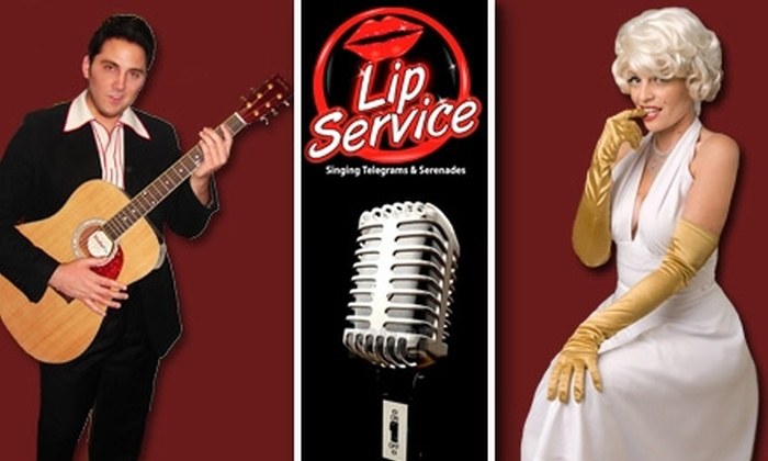 Lip Service - San Diego: $50 for a Singing Telegram from Lip Service ($150 Value)