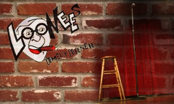 Loonees Comedy Corner - Powers: $10 for Two Tickets and $20 Worth of Drinks and Small Plates at Loonees Comedy Corner (Up to $38 Value)