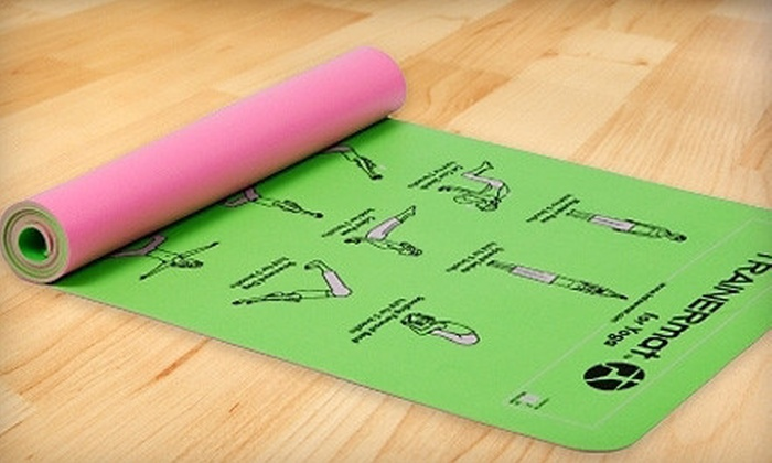 TrainerMat from G2Lifestyles - Lexington: $12 for an Exercise Mat with Printed Exercise Illustrations for Yoga, Abs, Pilates, or Weight Loss from G2Lifestyles ($29.99 Value)