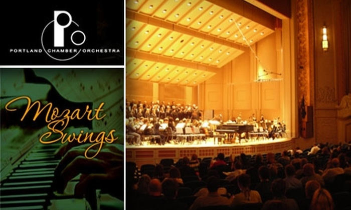 """Portland Chamber Orchestra - Hillsboro: $12 Ticket to Portland Chamber Orchestra's """"Mozart Swings"""" ($25 Value). Buy Here for January 31 at 3:00 p.m. Click Below for January 30 at Kaul Auditorium."""