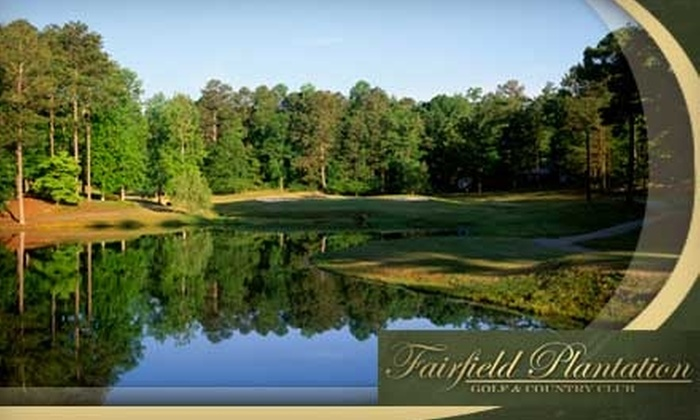 Fairfield Plantation Golf and Country Club - Carrollton: $39 for 18 Holes of Golf for Two, Golf Cart Rental, and Two Bags of Range Balls at Fairfield Plantation Golf and Country Club in Villa Rica (Up to $94 Value)