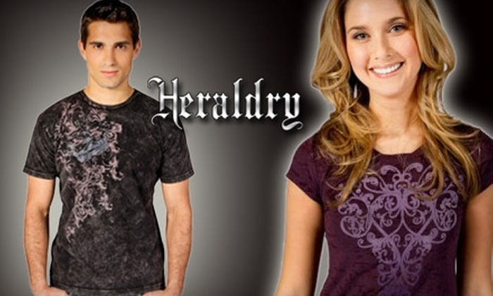 Heraldry Clothing: $20 for $60 Worth of Graphic-Printed T-shirts from Heraldry Clothing