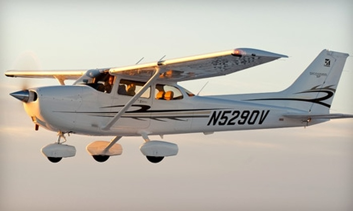 Solberg Aviation - Readington: Introductory Flight Lesson in Cessna 172 from Solberg Aviation. Choose Between Two Options.