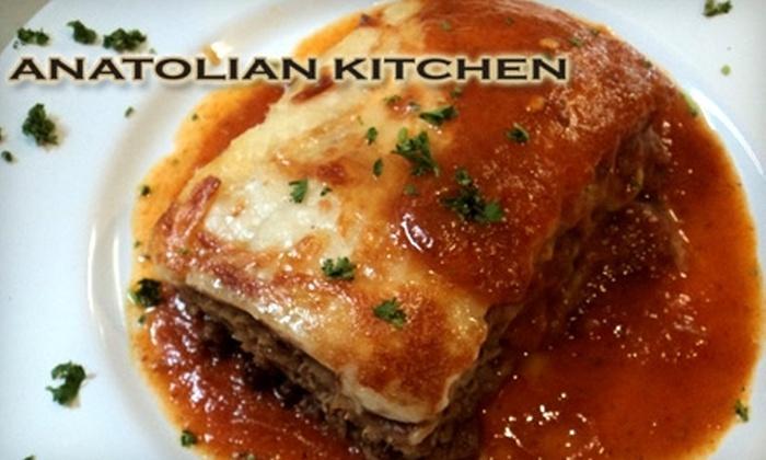 Anatolian Kitchen - Evergreen Park: $12 for $25 Worth of Mediterranean Dinner Fare at Anatolian Kitchen in Palo Alto