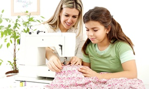 Tickled Pink Vintage Party Parlor: Sewing Workshop for One Child or Mommy & Me Sewing Workshop at Tickled Pink Vintage Party Parlor (Up to 65% Off)