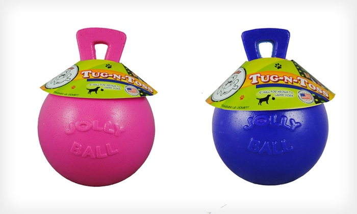 Jolly Pets Tug-n-Toss Dog Toys: Jolly Pets Tug-n-Toss Dog Toys (Up to 67% Off). Multiple Sizes and Colors Available.