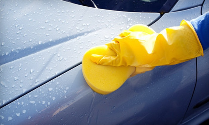 On The Spot Auto Detailing - Multiple Locations: One or Three Express Hand Washes or One Express Wash with Wax at On The Spot Auto Detailing (Up to 57% Off)