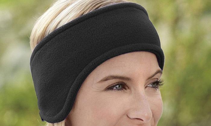Unisex Fleece Ear Warmer Headband (4-Pack)