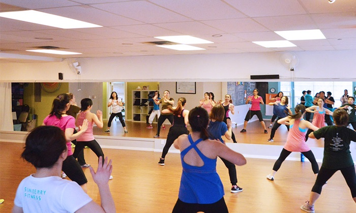 Sunberry Fitness - Central Richmond: Month of Zumba and Dance-Fitness Classes with Optional Weight-Loss Program at Sunberry Fitness (Up to 70% Off)