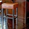 Bonded-Leather Barstools