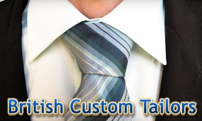 British Custom Tailors - Gardiner Lane: $15 for $30 Worth of Tailoring Services and Clothing at British Custom Tailors