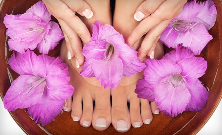 Basic On the Go Manicure and Basic Cucumber Pedicure (a $60 value) - Chenell's Natural Nails in Alpharetta