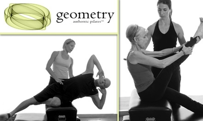 Geometry Pilates - Pearl: $35 for Five Body-Healthy Pilates Mat and Gyrokinesis Classes at Geometry Pilates