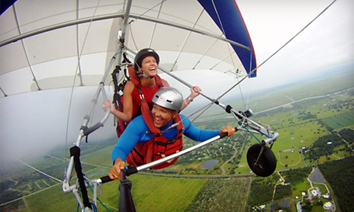 Orlando Hang Gliding - The Florida Ridge Sports Air Park: $89 for a Tandem Sky Ride Experience with T-Shirt and Park Entry from Orlando Hang Gliding in Clewiston ($184 Value)
