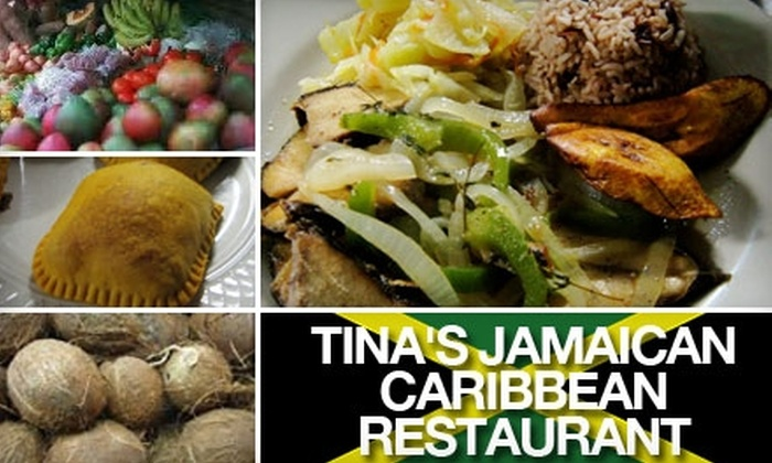 Tina's Jamaican Caribbean Restaurant - Federal Hill: $15 for $30 Worth of Authentic Jamaican Cuisine and Drinks at Tina's Jamaican Caribbean Restaurant