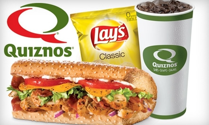 Quiznos - Bossier City: $5 for $10 Worth of Subs and Sips at Quiznos