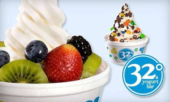 32°, A Yogurt Bar - Southeastern Columbia: $3 for $6 Worth of Self-Serve Frozen Yogurt at 32°, A Yogurt Bar