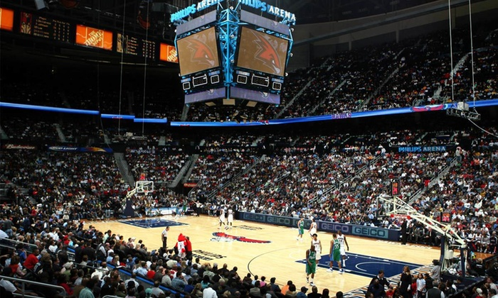 Atlanta Hawks - Philips Arena: $175 for Atlanta Hawks vs. Boston Celtics Club Seat with VIP Privileges Including Meal and Exclusive Courtside Access to Pre-Game Warm-Ups