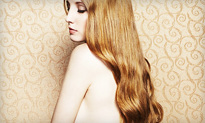Hair Addiction Studio - Spring Valley: $89 for a Coppola Keratin Hair-Smoothing Treatment and Glass of Champagne at Hair Addiction Studio ($275 Value)