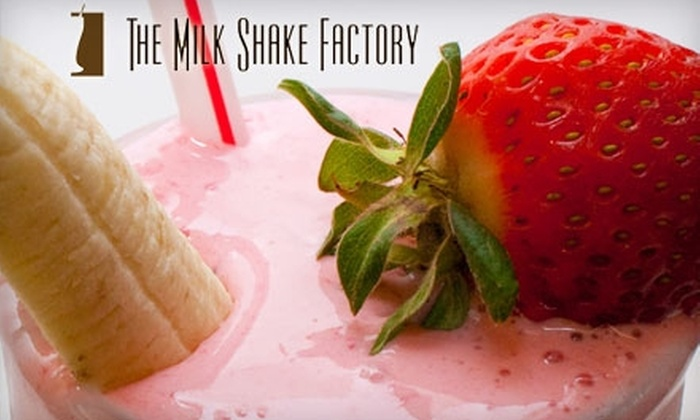 The Milk Shake Factory - Southside Flats: $4 for Two 20 Oz. Milkshakes at The Milk Shake Factory ($8 Value)