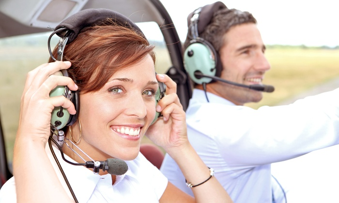 APA Flight School - Pembroke Pines: $178 for a Love Flight Tour for Two with Champagne from APA Flight School ($338 Value)