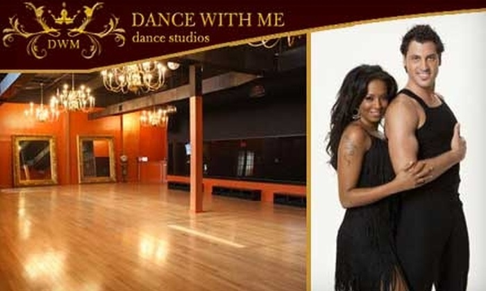 Dance With Me - Multiple Locations: $40 for Five Dance Fitness Classes ($85 Value) or $55 for Four Dance Lessons and More at Dance With Me (up to a $117 Value). Choose From Two Options.