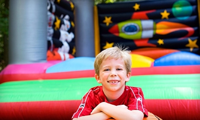 Fun Services - Oasis: $100 for a Giant-Water-Slide, Bounce-House, or Five-Sided-Sports-Challenge Rental from Fun Services (Up to $225 Value)