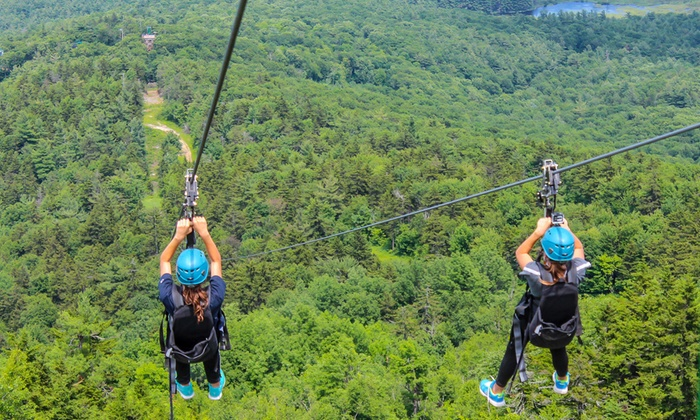 Gunstock Mountain Resort - Gunstock Mountain Adventure Park: ZipTour Zipline Experience for One or Two at Gunstock Mountain Resort (Up to 29% Off). Four Options Available.