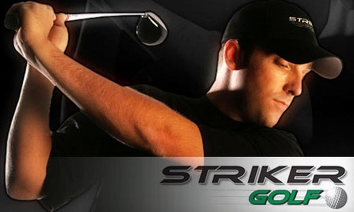 Striker Golf - Appleridge Estates: $49 for Three 18-Hole Rounds of HD Golf Simulation ($105 Value) or $129 for Two Private Lessons with Professional Instructor and Unlimited Driving Range Use ($269 Value) at Striker Golf in Wheat Ridge