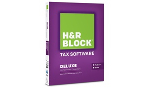 H&r Block 2014 Deluxe Federal And State Tax Software