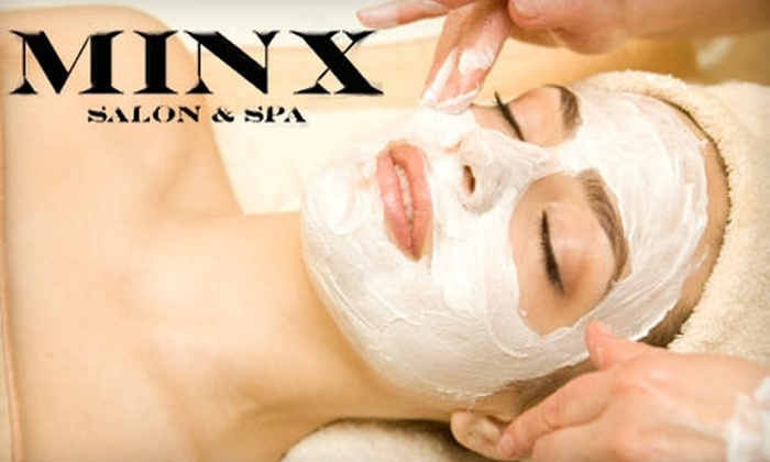 Minx Salon and Spa - Loomis: $42 for Your Choice of Half-Hour Custom Facial and 45-Minute Massage at Minx Salon and Spa in Loomis ($125 Value)