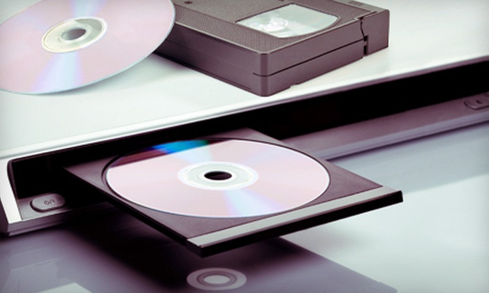 Memory Transfers - Sylvania: Transfer of VHS Tapes or 8mm Film to DVD at Memory Transfers (Up to 55% Off)