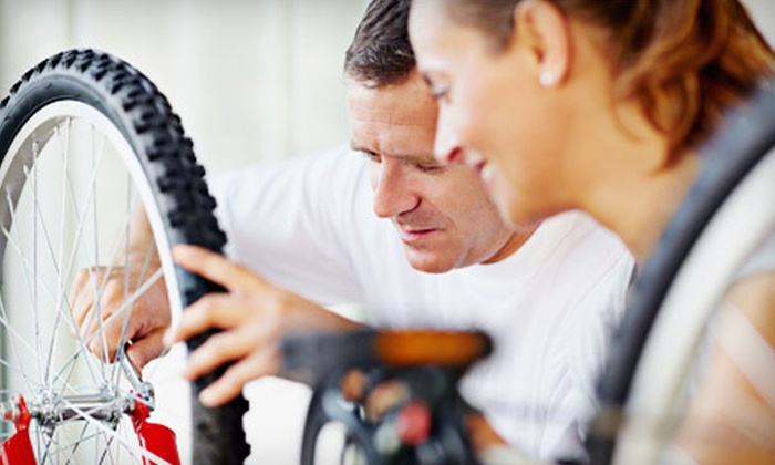 Lake Travis Cyclery - The Galleria: Basic Bicycle Tune-Up or $25 for $50 Worth of Cycling Accessories and Apparel at Lake Travis Cyclery