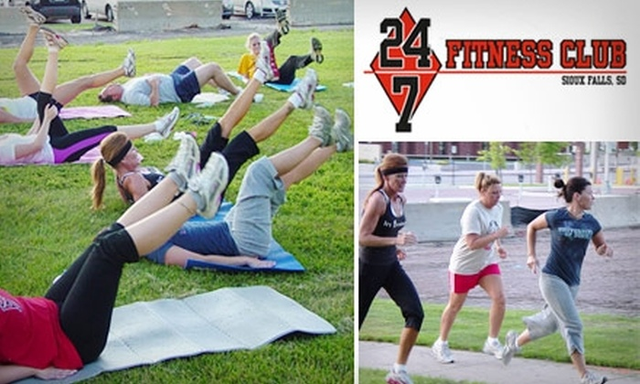 24/7 Fitness Club - Sioux Falls: $22 for Six Sessions of Outdoor Fitness Boot Camp at 24/7 Fitness Club ($90 Value)
