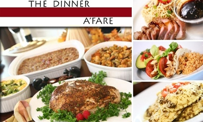 The Dinner A'Fare-South Park - Beverly Woods: $57 for Six Pre-Assembled Meals (Serving Two to Three People Each) by The Dinner A'Fare