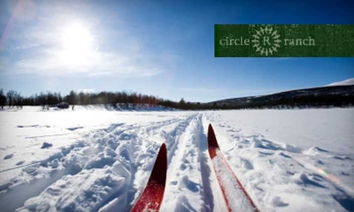 Circle R Ranch - Delaware: Cross-Country Skiing Intro Lesson or Adult Day Pass Including Rentals at Circle R Ranch in Delaware
