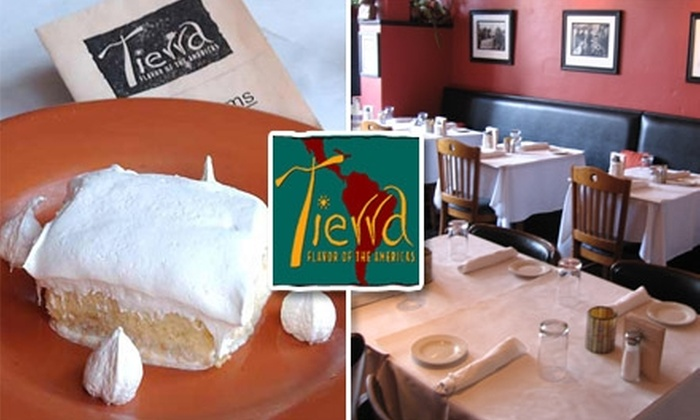 Tierra Restaurant - Northeast Atlanta: $17 for $35 Worth of Authentic Latin American Cuisine and Drink at Tierra