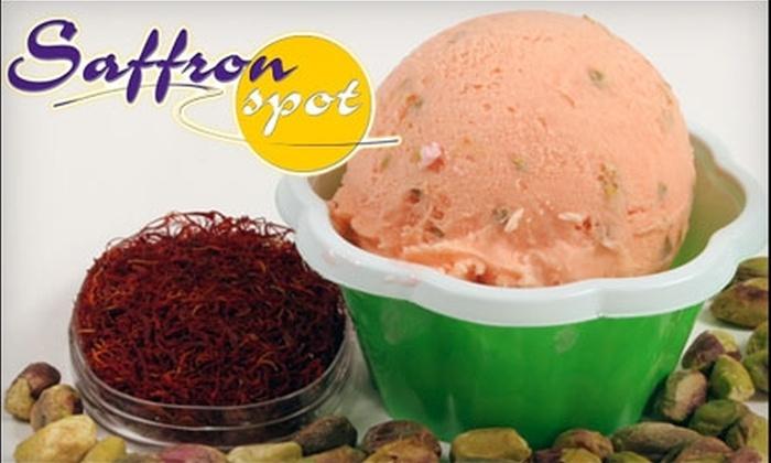 Saffron Spot - ABC: $5 for $10 Worth of Exotic Ice Cream and More at Saffron Spot in Artesia
