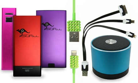 Battery-Charging Devices or Bluetooth Speakers from Battery on the Go  (Up to 70% Off). Six Options Available.