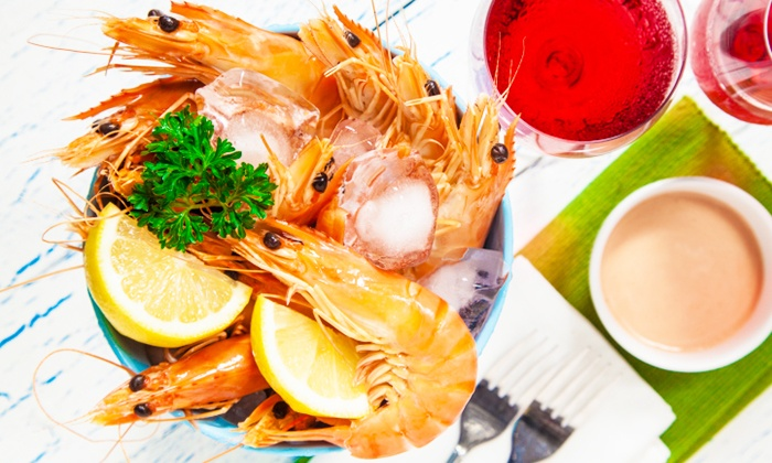 Barramundi Bar & Grill - Sydney: Bucket of Prawns and a Bottle of Wine for Two ($29) or Four People ($55) at Barramundi Bar & Grill (Up to $140 Value)