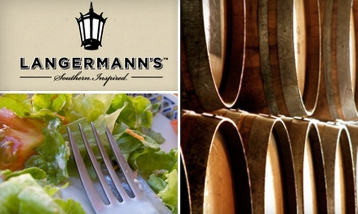 Langermann's - Canton: $15 for $30 Worth of Southern-Inspired Dinner Fare and Drinks at Langermann's