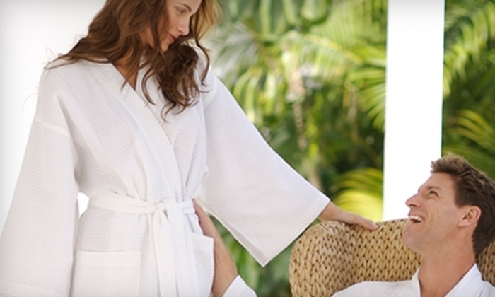Say It With Stitches - Sarasota: $40 for a Custom Monogrammed White Robe from Say It With Stitches in Sarasota ($80 Value)
