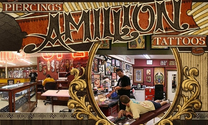 Amillion Tattoos - Wooten: $25 for $50 Worth of Tattoos or Body Piercings at Amillion Tattoos