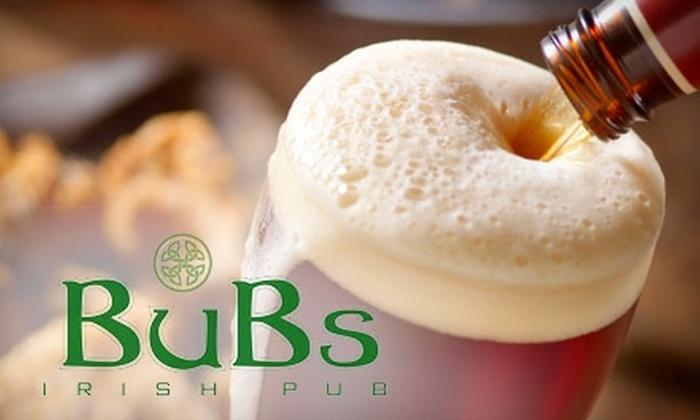 BuBs Irish Pub - Germantown: $10 for $20 Worth of Pub Fare and Drinks at BuBs Irish Pub in Germantown