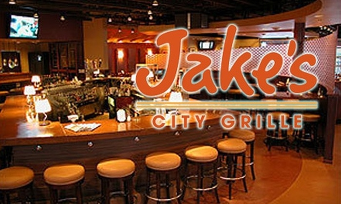 Jake's City Grille - Multiple Locations: $15 for $30 Worth of Upscale American Cuisine at Jake's City Grille