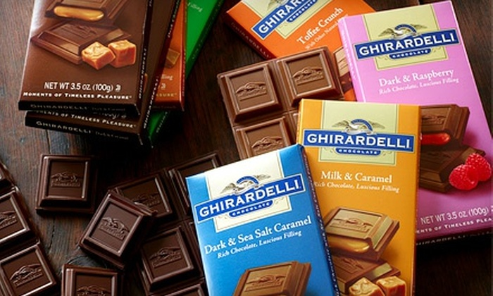 Ghirardelli Chocolate Outlet & Ice Cream Shop - Woodstock: Chocolate at Ghirardelli Chocolate Outlet & Ice Cream Shop (Up to 47% Off). Two Options Available.