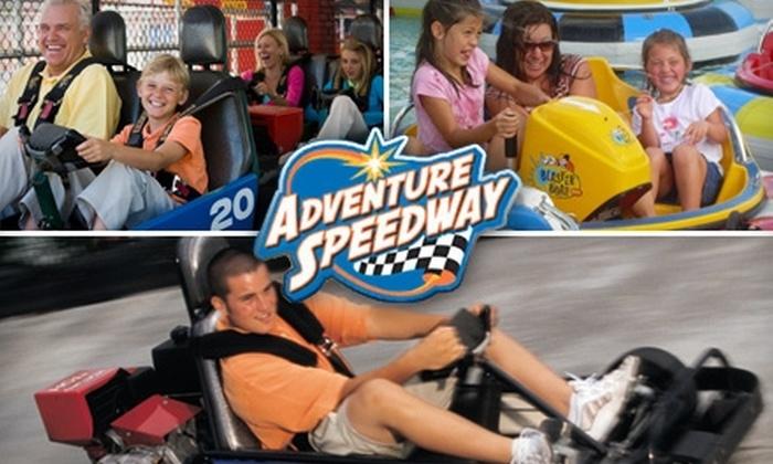 Adventure Speedway - Wheatfield: $8 for a Three-Attraction Pass at Adventure Speedway in Wheatfield ($15.99 Value)