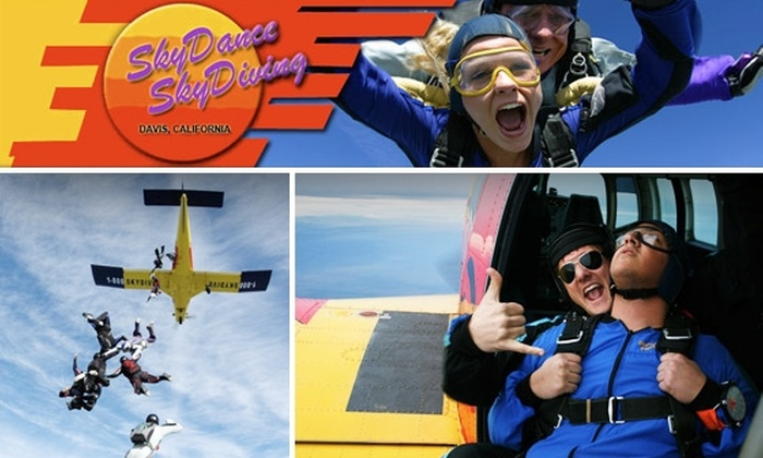 SkyDance SkyDiving - Davis: $125 Tandem Skydiving Jump with an Instructor at SkyDance SkyDiving ($199 Value)