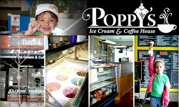Poppys Ice Cream and Coffee House - Downtown Lee's Summit: $5 for $10 Worth of Homemade Ice Cream, Espressos, and Other Treats at Poppy's Ice Cream and Coffee House