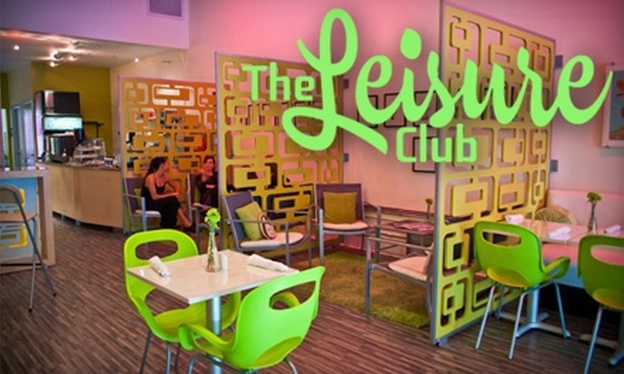 The Leisure Club - Downtown: $10 for $20 Worth of Coffee and Café Fare at The Leisure Club